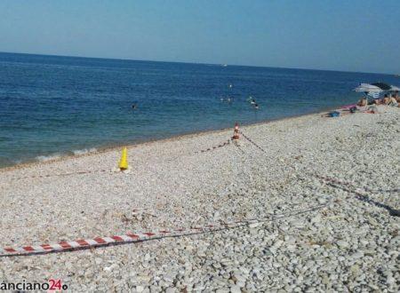 Ordigno bellico rinvenuto sulla spiaggia di Fossacesia