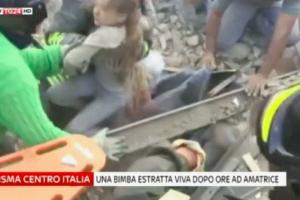 Terremoto Centro Italia: il VIDEO dell'estrazione di GIORGIA dalle macerie