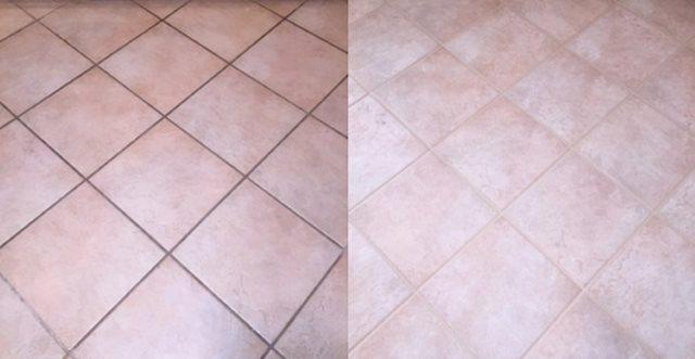 Pulire le fughe di piastrelle e pavimenti
