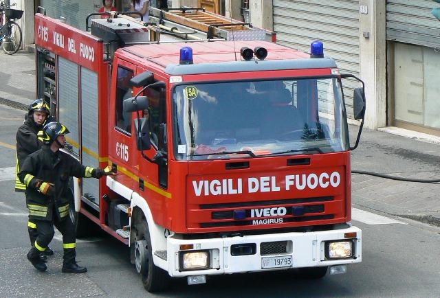 Vigili del fuoco a Paglieta